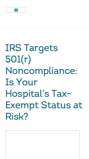 Is Your Hospital's Tax-Exempt Status at Risk? | TransUnion