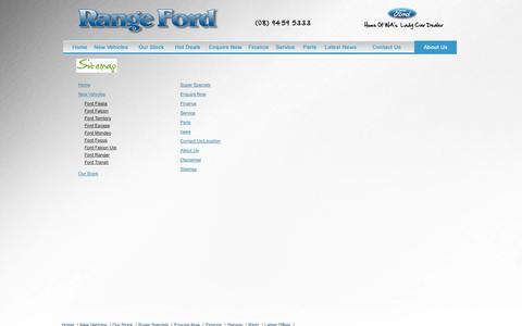 Screenshot of Site Map Page rangeford.com.au - Sitemap - Range Ford - captured Sept. 30, 2014