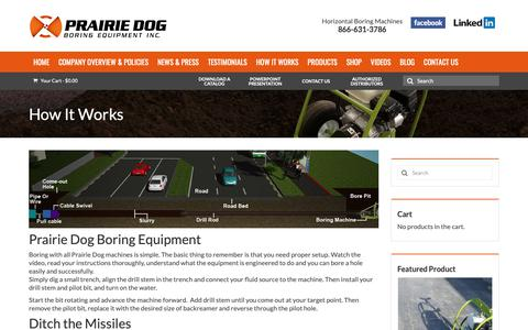 Screenshot of FAQ Page undergroundequip.com - How It Works - Prairie Dog Boring Equipment - captured Sept. 29, 2018