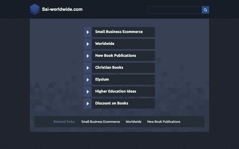 Screenshot of Home Page ssi-worldwide.com - Ssi-worldwide.com - captured Aug. 17, 2018