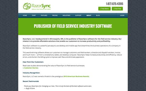 Field Service Management Software Publisher - RazorSync Mobile App Publisher