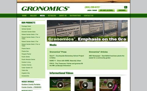 Screenshot of Press Page gronomics.com - Gronomics - captured Sept. 19, 2014