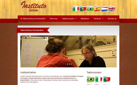 Screenshot of Home Page ilatino.nl - Instituto Latino | Taleninstituut Amsterdam - captured Jan. 27, 2015