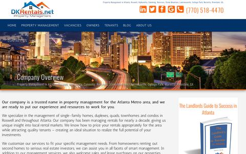 Screenshot of About Page dkrentals.net - DKRentals.Net Property Management in Atlanta, GA | Marietta | Roswell | Cumming | Stone Mountain | Riverdale | Norcross | College Park | Lawrenceville | - captured Oct. 11, 2017