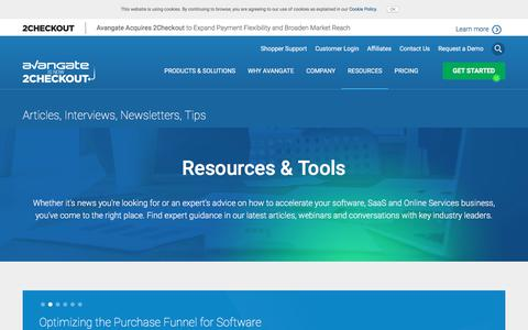 Screenshot of Case Studies Page avangate.com - Software News | Commerce Resources | eCommerce Trends - captured July 31, 2017
