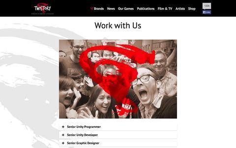 Screenshot of Jobs Page twistory.com - Work with Twistory Entertainment Studios - captured Oct. 7, 2014