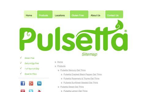 Screenshot of Site Map Page pulsetta.com - Home - captured Oct. 3, 2014