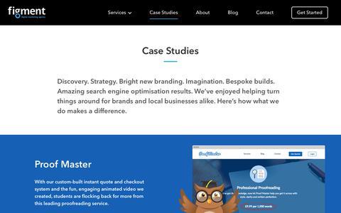 Screenshot of Case Studies Page figmentagency.com - Case Studies Archive - Figment Digital Marketing Agency - captured Nov. 11, 2018