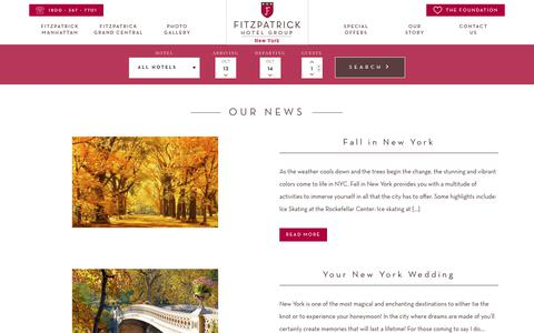 Screenshot of Press Page fitzpatrickhotels.com - Latest News - Fitzpatrick Hotels NY - captured Oct. 14, 2017