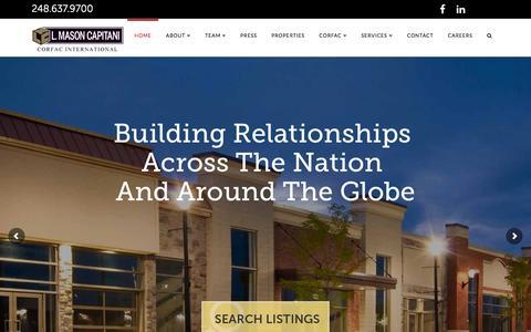 Screenshot of Home Page lmcap.com - Home | L. Mason Capitani - captured Jan. 22, 2016