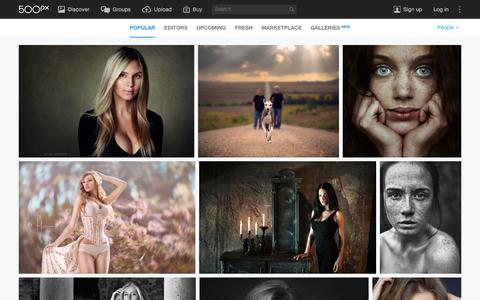 Screenshot of Team Page 500px.com - Most Popular People Photos on 500px Right Now - captured Dec. 31, 2015