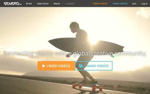 Screenshot of Home Page genero.tv - Music Video and Brand Video Production | Genero.tv - captured Dec. 8, 2015