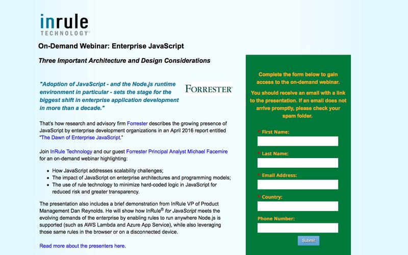 Webinar | Forrester - Enterprise JavaScript