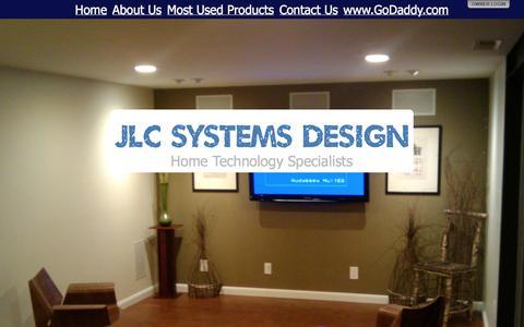 Screenshot of Home Page jlcsd.com - JLC Systems Design - captured Oct. 4, 2014