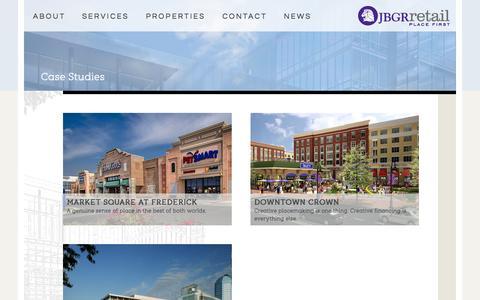 Screenshot of Case Studies Page jbgr.com - Case Studies | JBGR Retail - captured Oct. 3, 2014