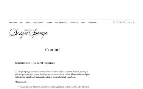 Contact – Design*Sponge
