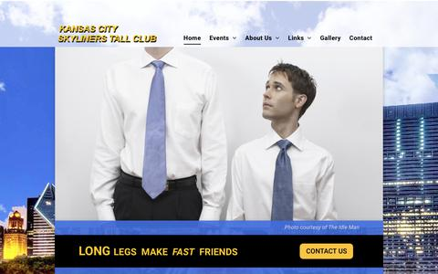 Screenshot of Home Page kansascitytallclub.org - Tall People Club - Kansas City Skyliners Tall Club | Kansas City - captured Oct. 28, 2018