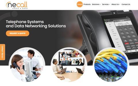 Screenshot of Home Page necall.com.au - Telephone Systems – Business Telephone Systems Perth   NECALL - captured Oct. 25, 2017