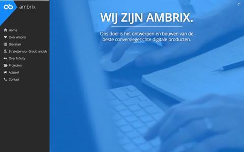 Screenshot of Home Page ambrix.nl - Full Service ICT Dienstverlener uit Arnhem | Ambrix - captured Sept. 19, 2015