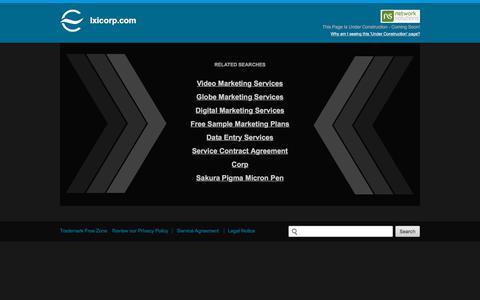 Screenshot of Home Page ixicorp.com - Ixicorp.com - captured July 21, 2018