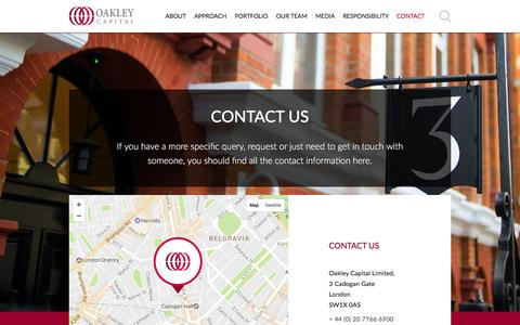 Screenshot of Contact Page oakleycapital.com - Contact US | Oakley Capital Private Equity - captured Dec. 17, 2016