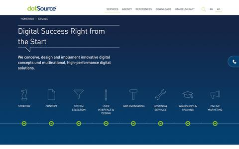 Screenshot of Services Page dotsource.com - E-commerce services | dotSource – the ecommerce agency - captured Oct. 21, 2016