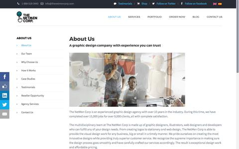 Screenshot of About Page thenetmencorp.com - About The NetMen Corp | Graphic Design Agency for Hire Online - captured June 15, 2017