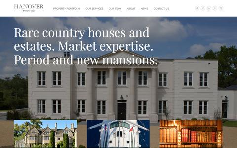 Screenshot of Home Page hanoverprivateoffice.com - Estate Agents London & UK | Hanover Private Office - captured Dec. 7, 2015