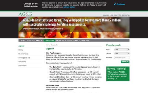 Screenshot of Case Studies Page agg.uk.com - AG&G - Alder Grimes Gooderham - Agency - captured Sept. 30, 2014