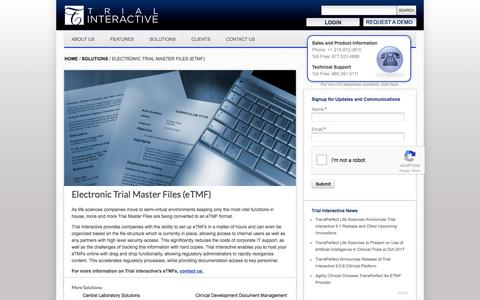 Electronic Trial Master Files (eTMF) | TransPerfect