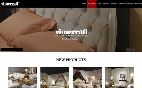 Screenshot of Press Page vimercatimeda.it - News Mobili Classici di Lusso | Vimercati Meda - captured Aug. 14, 2015