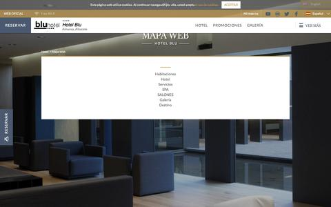 Screenshot of Site Map Page hotelblu.es - Mapa web del  Hotel Blu. Web oficial - captured Sept. 13, 2017