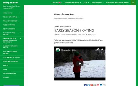 Screenshot of Press Page hikingtravelhit.fi - News arkistot - Hiking Travel, Hit - captured Dec. 15, 2018