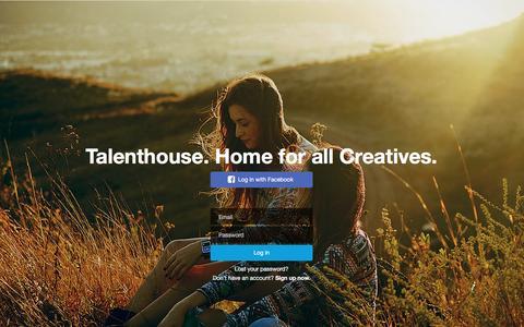 Screenshot of Login Page talenthouse.com - Talenthouse - captured Dec. 31, 2015