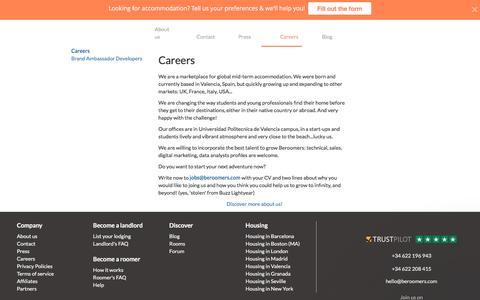 Careers | Beroomers