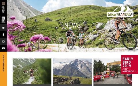 Screenshot of Press Page bike-transalp.de - News | BIKE Transalp - captured Oct. 12, 2018