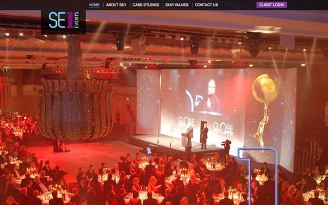 Screenshot of Home Page se1events.co.uk - Home | SE1 Events - the best ideas delivered - captured Sept. 30, 2014