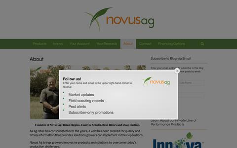 Screenshot of About Page novusag.com - About - Novus Ag - captured Nov. 6, 2017