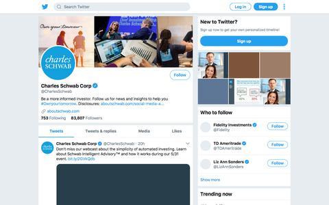 Tweets by Charles Schwab Corp (@CharlesSchwab) – Twitter