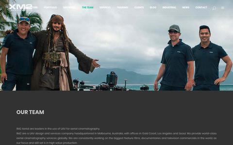 Screenshot of Team Page xm2.com - XM2 Cine |   The Team - captured Oct. 2, 2018