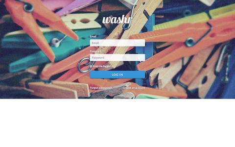 Screenshot of Login Page washr.co.za - Login - captured Aug. 12, 2016