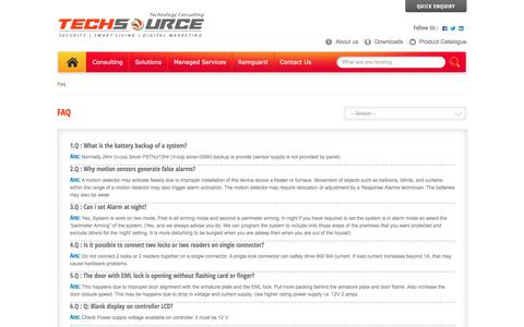 Screenshot of FAQ Page techsourceglobal.com - Techsource Global - captured June 12, 2017