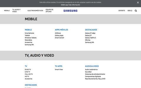 Screenshot of Site Map Page samsung.com - Mapa Del Sitio | Samsung México - captured Dec. 31, 2016