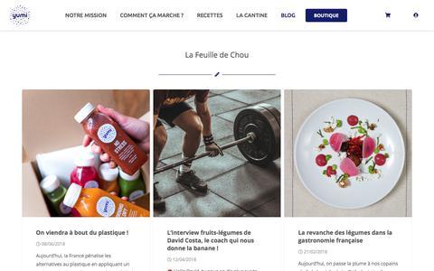 Screenshot of Blog yumi.fr - La Feuille de Chou - Le Blog de Yumi - captured June 23, 2018