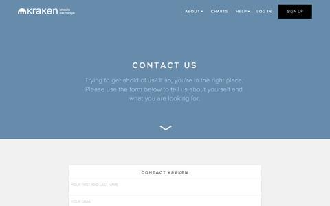 Screenshot of Contact Page kraken.com - Kraken | Buy, Sell, and Trade Bitcoins - Contact - captured Nov. 18, 2015