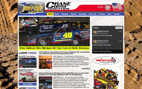 Screenshot of Home Page michigandirtcup.com - Michigan Dirt Cup – Dominance On Dirt - captured Sept. 23, 2014