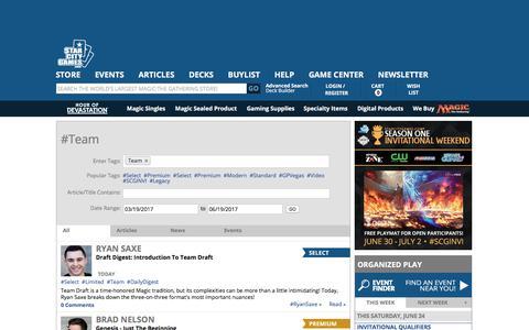 Screenshot of Team Page starcitygames.com - StarCityGames.com - Team - captured June 20, 2017