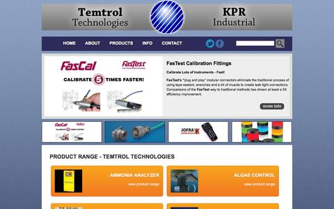 Screenshot of Products Page temtrol.com.au - Temperature, Safety, Instrumentation, Automation and Sensing Product Range – Temtrol Technologies : KPR Industrial - captured Nov. 5, 2014