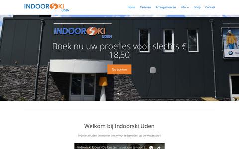Screenshot of Home Page indoorski-uden.nl - Home - Indoorski Uden - captured Sept. 13, 2018