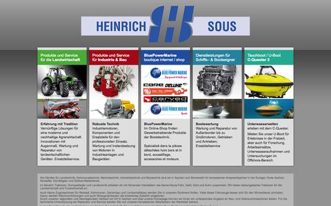 Screenshot of Home Page heinrich-sous.de - Startseite | Heinrich Sous - captured Oct. 8, 2015